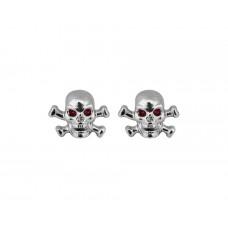 Valve caps Skull-Bone-chrome